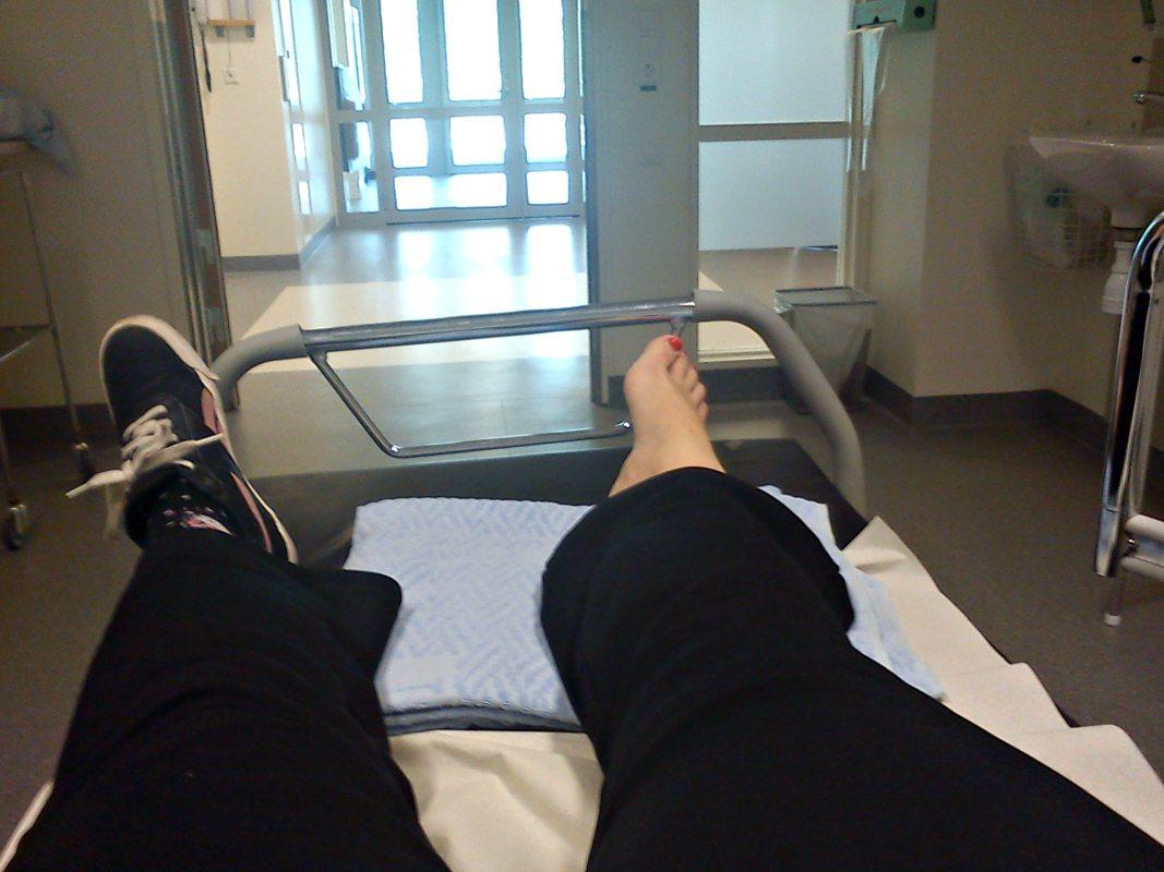 Akuten på Helsingborgslasarett 2013 när jag hade brutit fotleden
