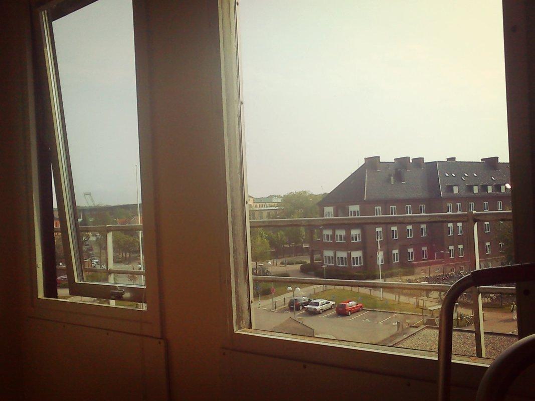 Utsikt från sjukhusrummet jag låg i efter fotledsoperationen