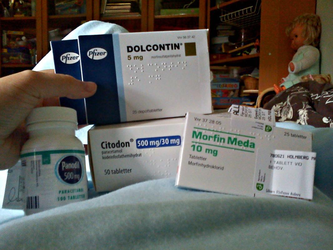 Läkemedel i samband med operationen i foten 2013