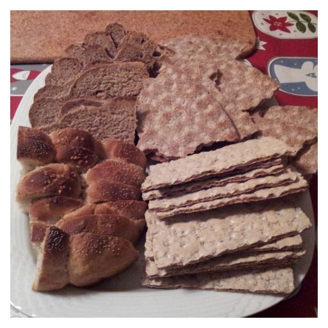Hembakta laktosfria bröd, jul knäckebröd, delikatessknäckebröd från Wasa