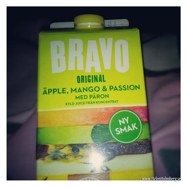 Ny smak från Bravo - äpple, mango, passion med päron juice