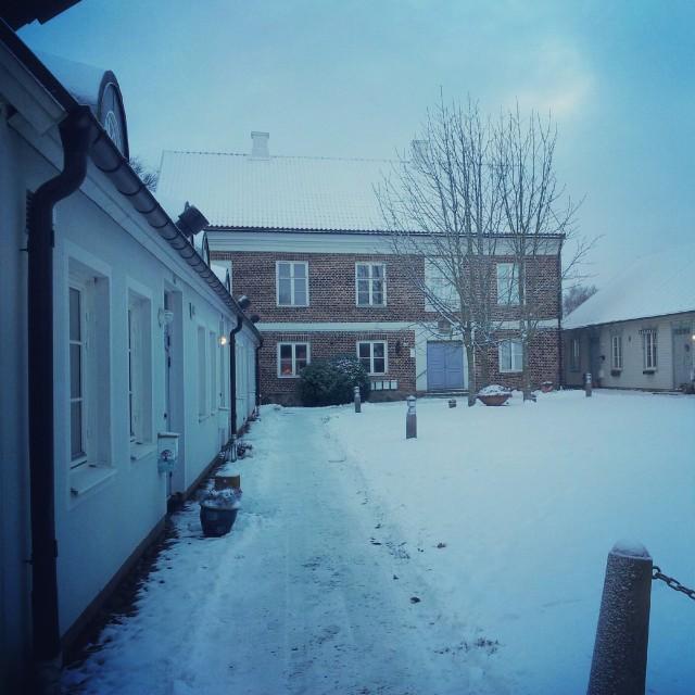 Snöigt vinterlandskap