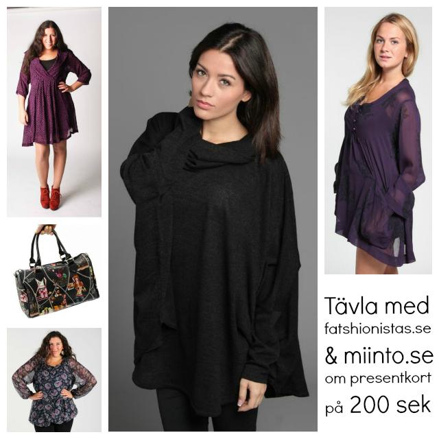 Tävla om 200 kronors presentkort med fatshionistas.se och Miinto.se