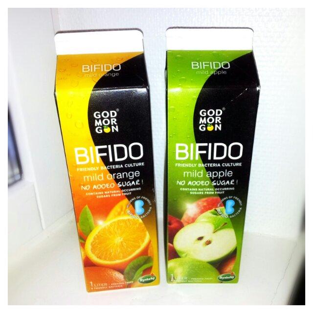 Ny God Morgon Bifido juice utan tillsatt socker och med bra bakterier för magen