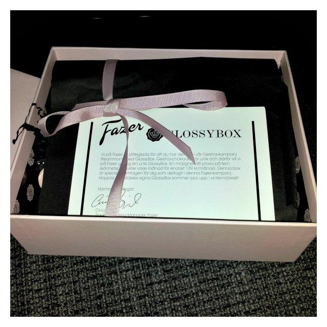 Glossybox från Geisha kampanj
