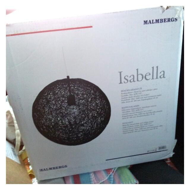 Lampa Isabella från Malmberg, köpt trademax.se