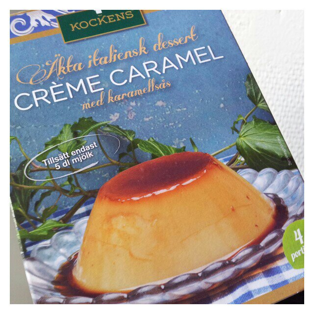 Laktosfri creme caramel från kockens provsmakad för smartson testpilot