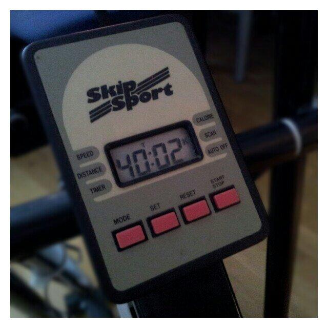 40 minuter på motionscyklen blev det idag