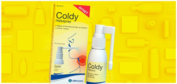 Utvald buzzador för Coldy halsspray