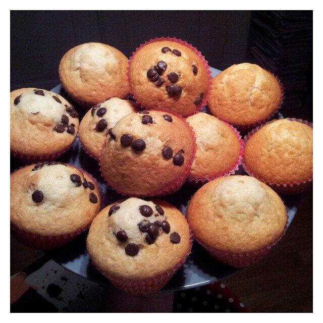Laktosfria vaniljmuffins bakade på olja