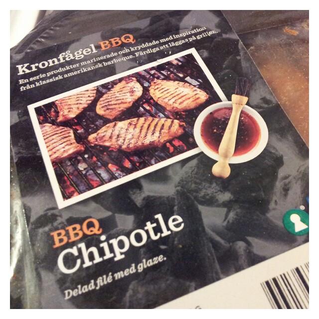 Provgrillat Kronfågel BBQ Chipotle, delad filé med glaze