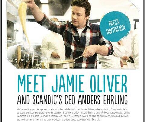 Jamie Oliver presslunch för Scandic, Stockholm