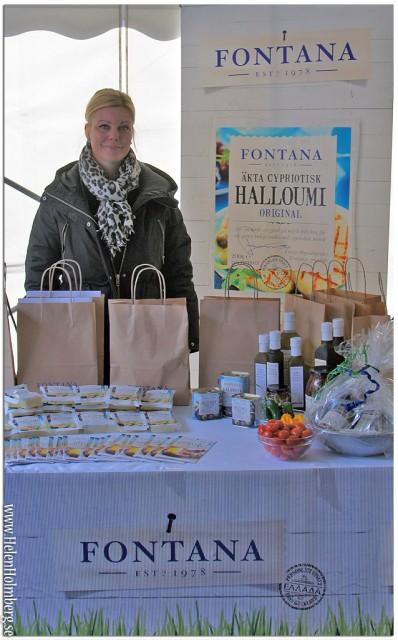 Camilla Bjurberg från Fontana visade upp sin produktnyhet Grilloumi
