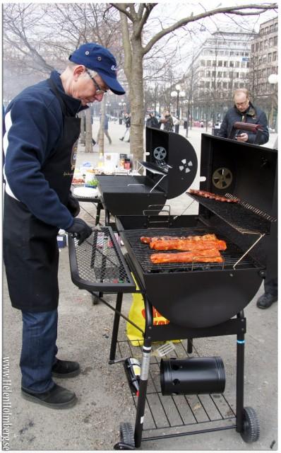 Dalsjöfors kött på grillen på citygross power meat 2013