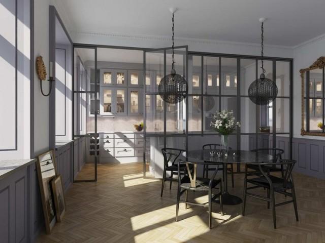 Kök i Stockholms lägenhet