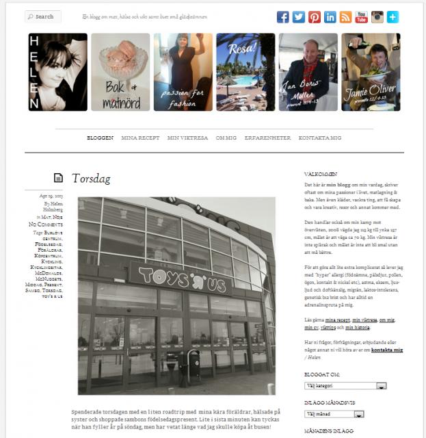 Ny design på min blogg helenholmberg.se