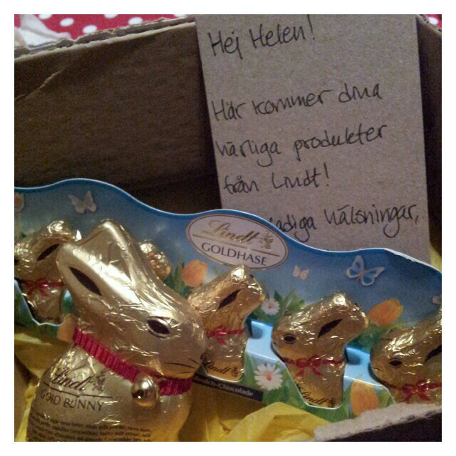 Lindt goldhare, guldhare i choklad