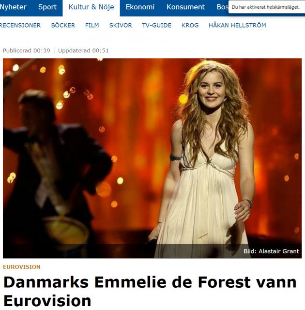 GP rapporterar om vinnaren i Esc2013 - Danmark