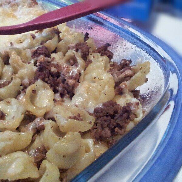Pastasnäckornas favorittäcke, laktosfri pastagratäng