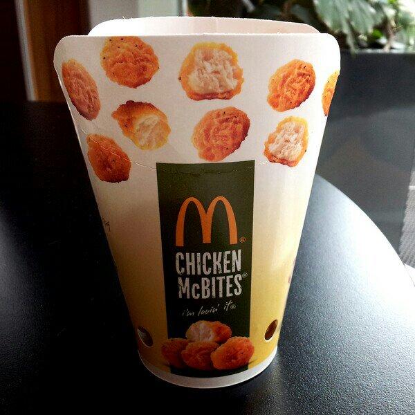 Fredagslunch på McDonalds, goda och söta Chicken Bites