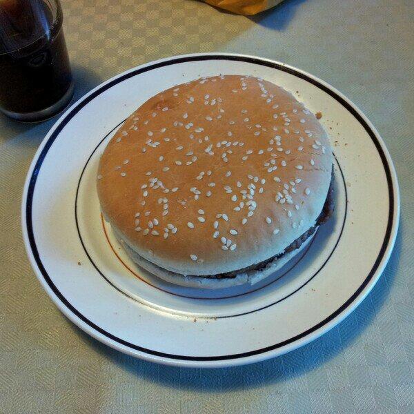hamburgare med bröd