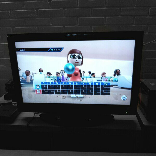 wii bowling med brorsan
