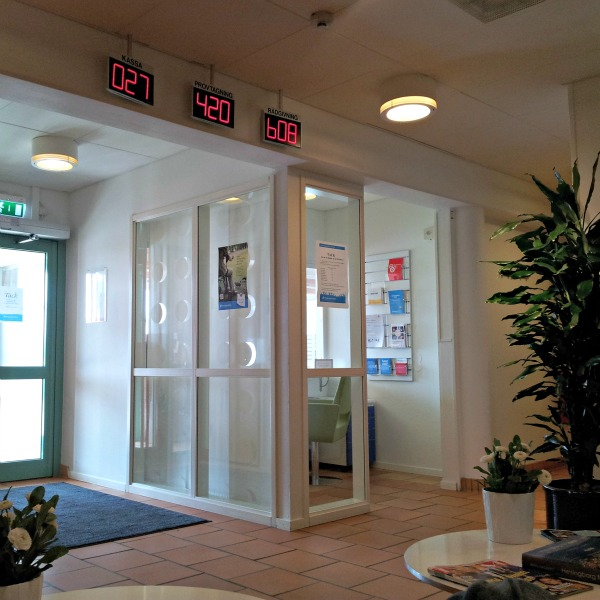 Väntrummet på Påarps läkarstation/vårdcentral