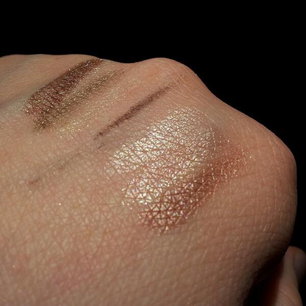 Gel eyeliner-On The Move, paletterna Trio Eyeshadow Innocence och Trio Eyeshadow Pink Sorbet