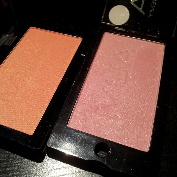 Mina två blushes från Mua Blusher Shade 5 och New Blusher Shades-Candyfloss