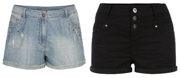 Fina shorts i plussize