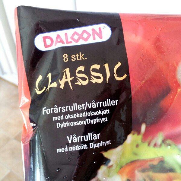 Daloon Classic vårrullar med oxkött