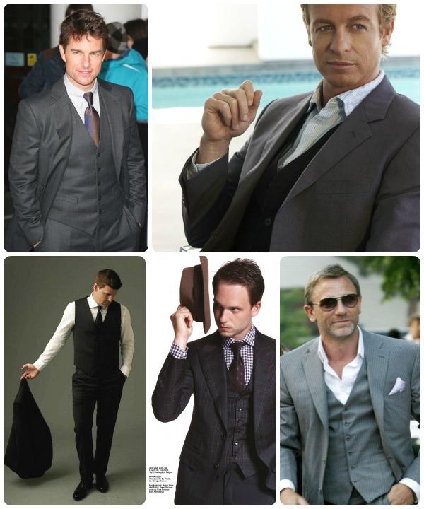Alla klär i tredels kostym - Tom Cruise, Simon Baker från the Mentalist, Daniel Craig eller Mr Bond, och många fler kända skådisar