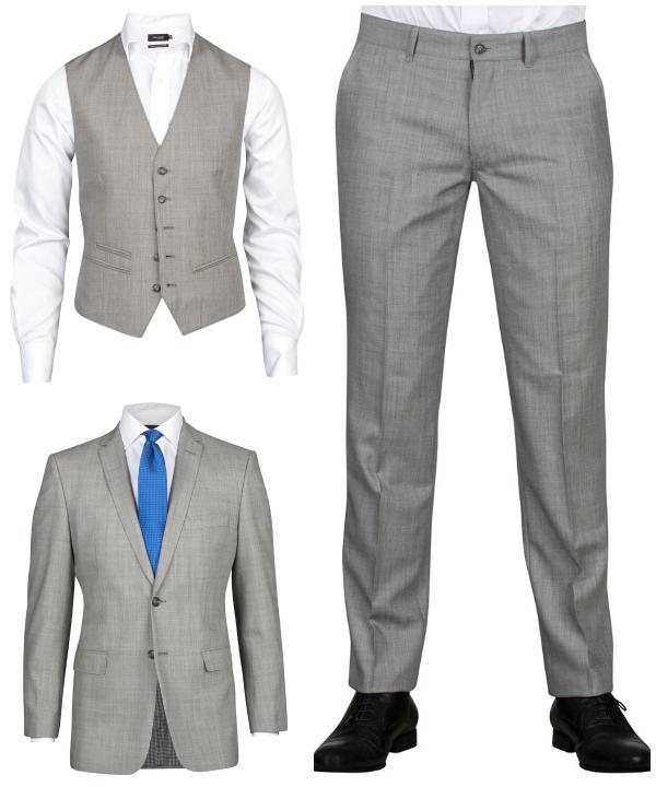 Ljusgrå ull kostym från dressman