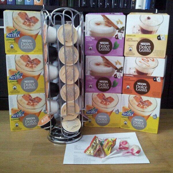 Shoppat Dolce Gusto kapslar i smakerna Nestea Lemon, Chai tea, Latte machiatto och kapselhållare från kaffekapslen.se