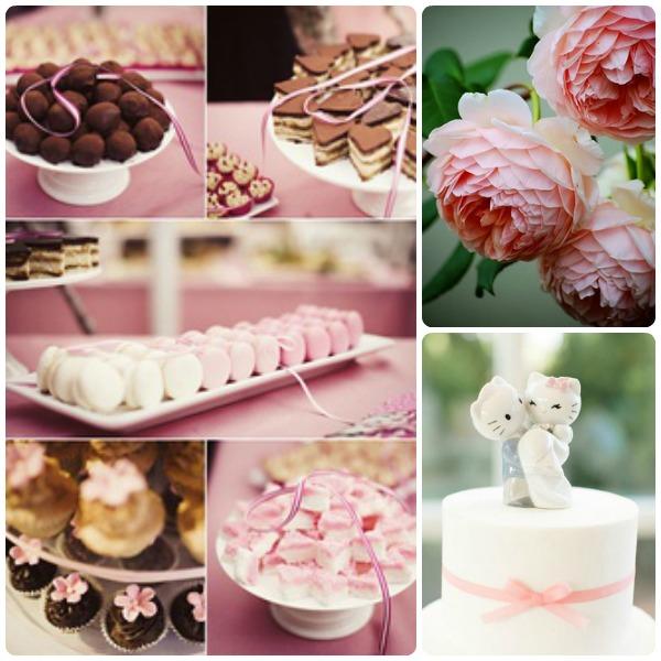 Bröllopsinspiration i pasteller och Hello Kitty bröllopstårtsdekoration