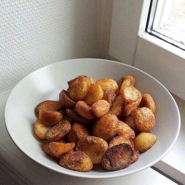 felix potatishalvor med havssalt och peppar