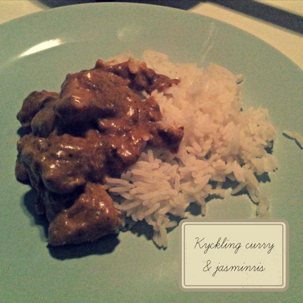 Kyckling curry med jasminris