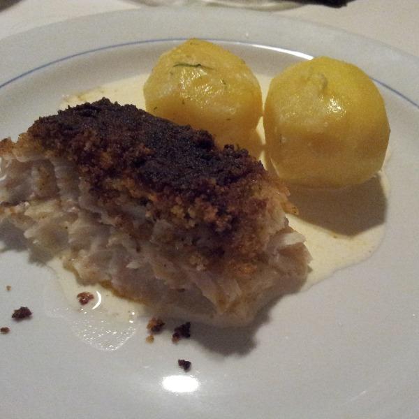 Fransk fiskgratäng med potatis kokt i vatten & dill