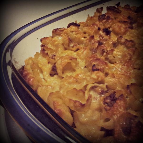 Snäckornas favorittäcke, laktosfri pasta gratäng