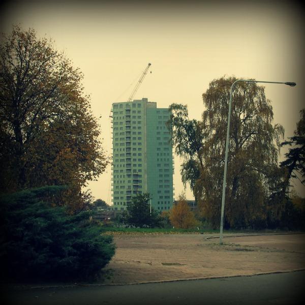 Nya byggnanden Höjdpunkten som byggs på Närlunda i Helsingborg