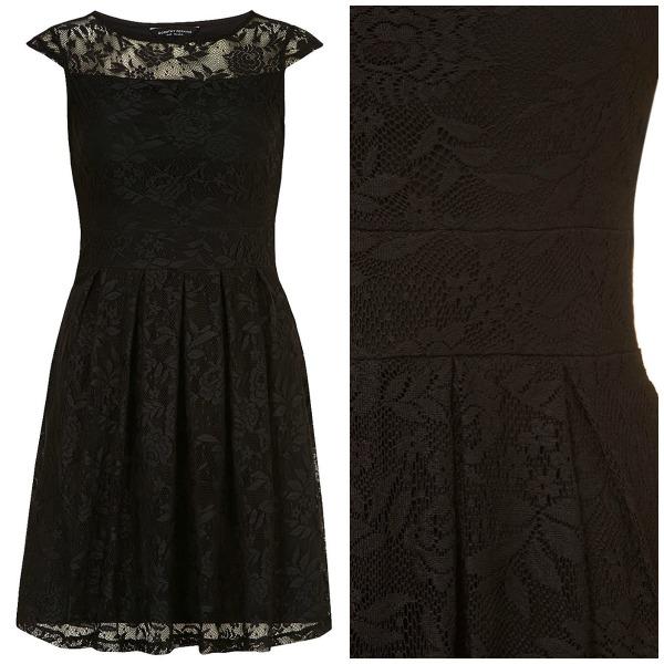 Svart spets klänning från Dorothy Perkins