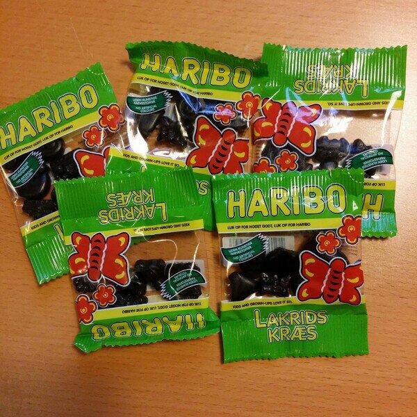 Haribo lakritsgodisar i småpåsar