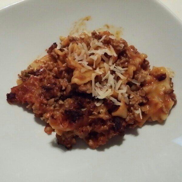 laktosfri pasta gratäng på knorr lasagnette mix