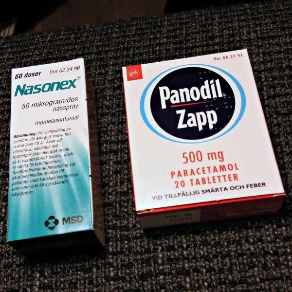 Panodil Zapp och Nasonex för bihåleinflammationsbehandling