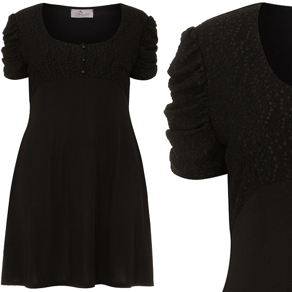 Black empire lace dress