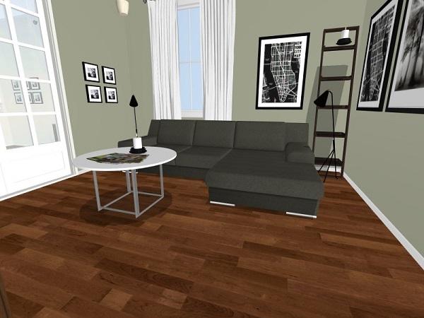 Skiss över vård nya vardagsrum