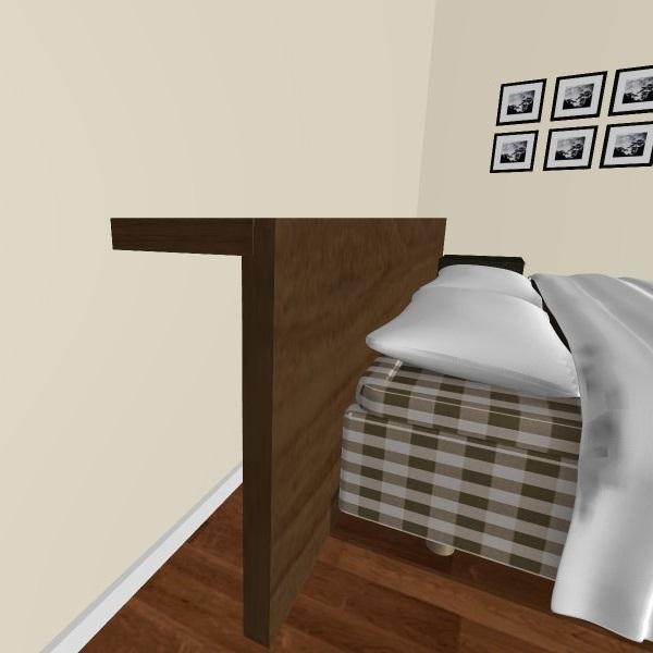 IKEA Hack säng gavel av lackbord och lack hylla
