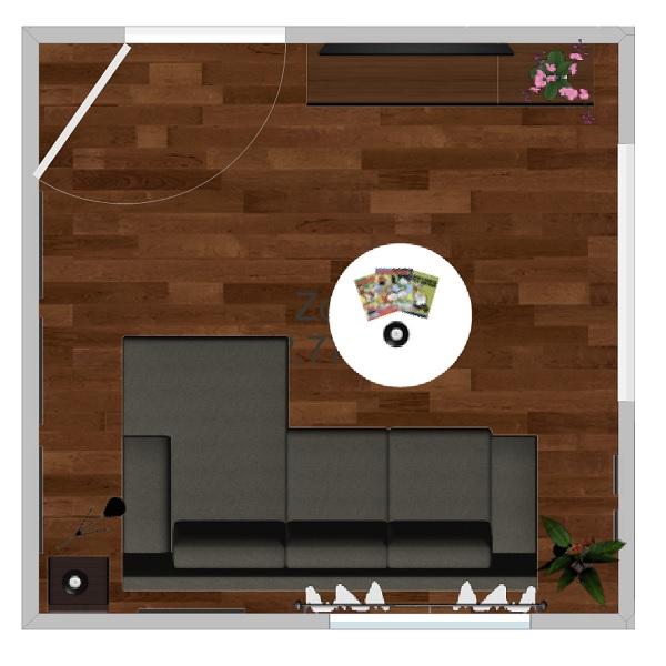 Planlösning för nya vardagsrummet