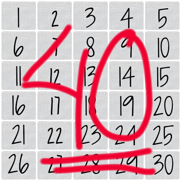 40 dagar utan godis