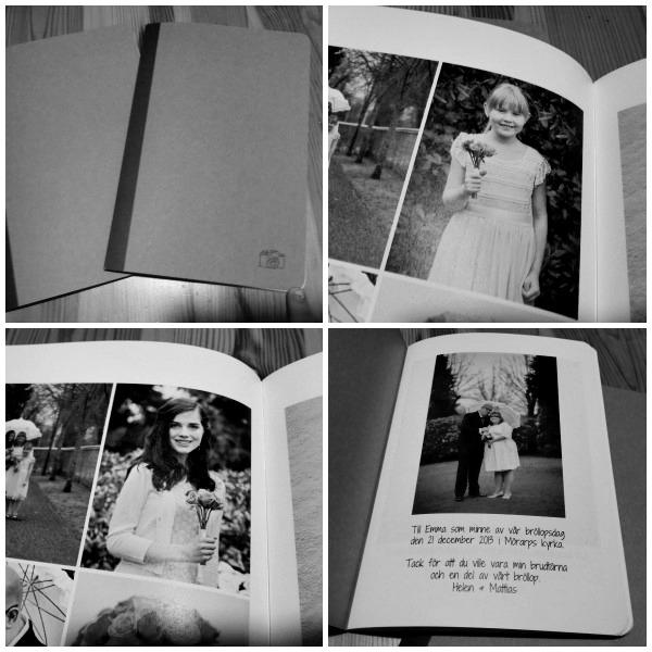 Retro fotoböcker från photobox till syskondöttrarna som tackpresenter för hjälpen med vårt bröllop